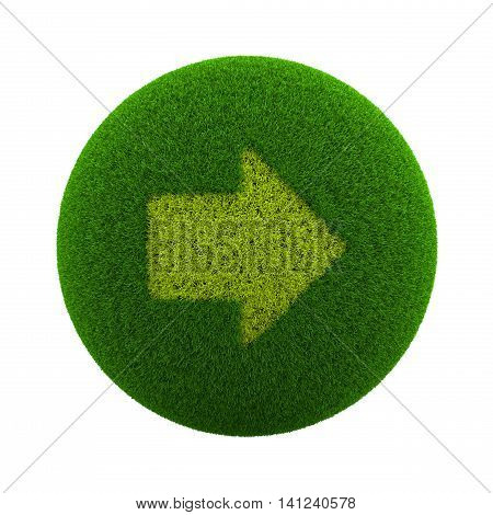 Grass Sphere Right Arrow Icon