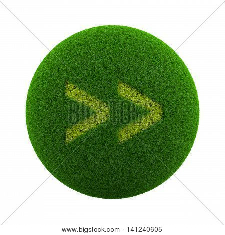 Grass Sphere Forward Icon