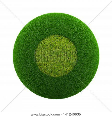 Grass Sphere Circle Icon