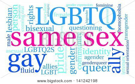 Same Sex Word Cloud