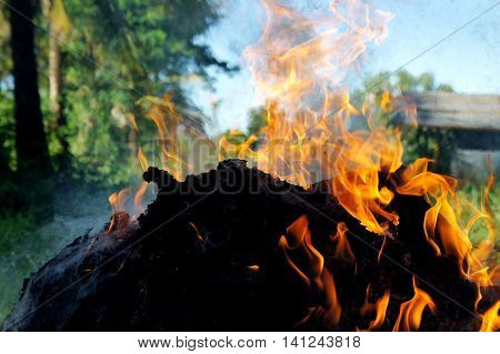 Light a fire ,in the outside area. May create a hazard to those nearby. be careful