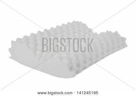 white foam texture pillow isolated on white background