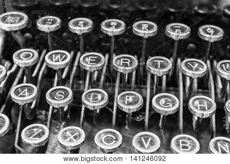Antique Typewriter - An Antique Typewriter Showing Traditional QWERTY Keys XIII