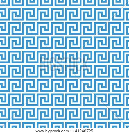 greek fret meander. vintage greek key seamless pattern background. vector illustration