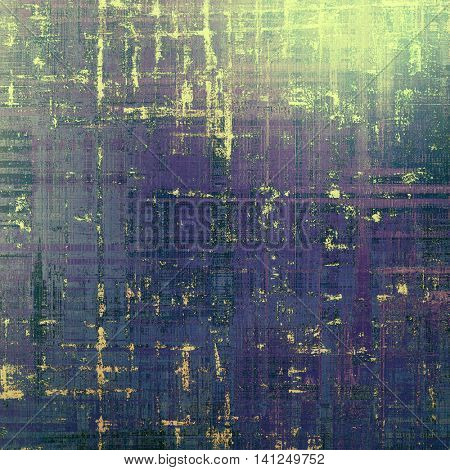 Retro vintage style elements on aged grunge texture. With different color patterns: yellow (beige); gray; green; blue; purple (violet)