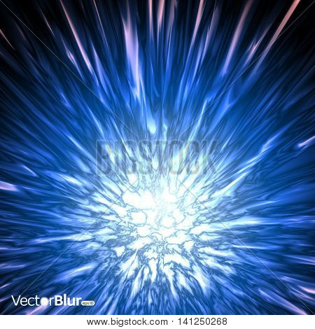 Abstract background with blur lights - vector illustration