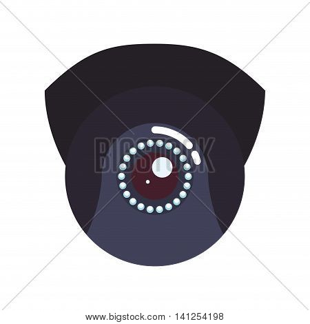 eye cctv security system insurace protection icon. Isolated and flat illustration. Vector graphic