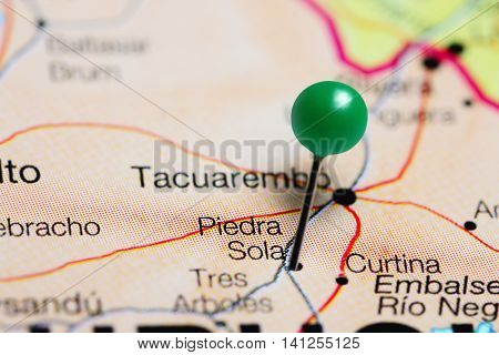 Piedra Sola pinned on a map of Uruguay