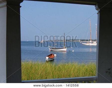 Framed Vineyard Haven Harbor