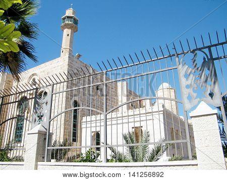Hasan-bey Mosque in Yosef Levi street in Tel Aviv Israel