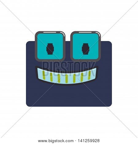 robot cartoon technology android metal  icon. Isolated and flat illustration. Vector graphic