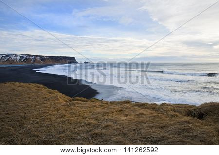 View of the sea at Dyrholaey, Iceland 2014