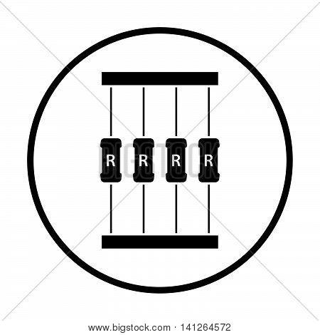 Resistor Tape Icon