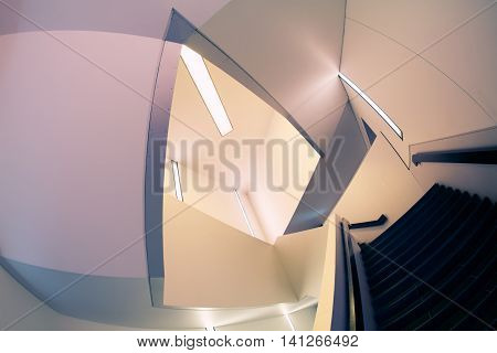 Lines And Angles Of Modern Staircase;