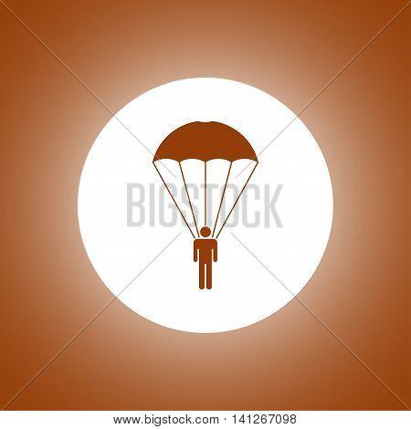 Parachute Jumper Vector Illustration