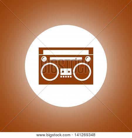 Radio Icon. Vector Concept Illustration For Design