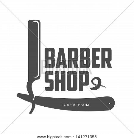 vintage barber shop logo, label, badge and design element, vector illustration isolated on white background. Combs, moustache and scissors logo for barbershops, beauty salons, hairdressers