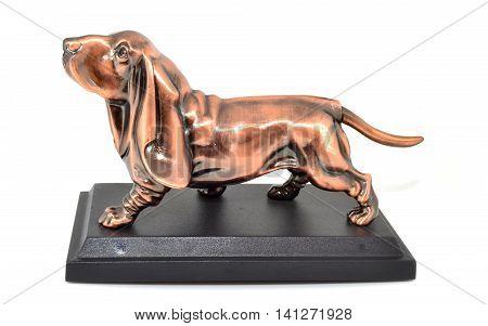 Figurine lighter shaped dog breed basset hound