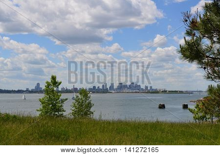 Gorgeous views of the City of Boston from the harbor islands.