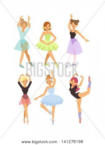 Ballerina dancer vector girl
