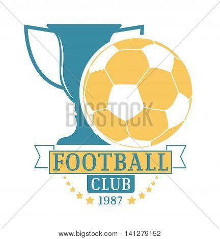 European football, soccer label, emblem and design championship elements. Vector occer logo football tournament icon symbol. Soccer logo team emblem badge sport competition.