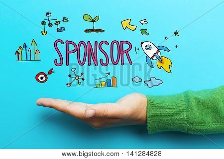 Sponsor Concept With Hand