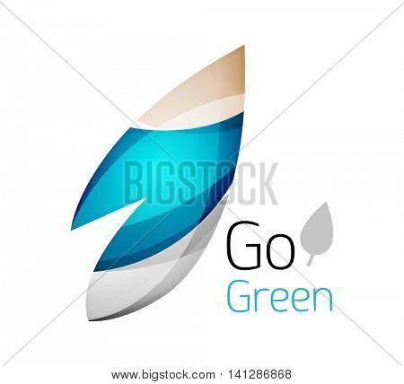 Go green logo. Green nature concept. illustration
