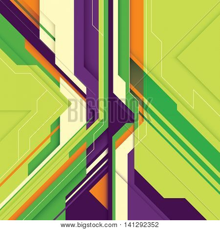 Abstract style technology background. Vector illustration.