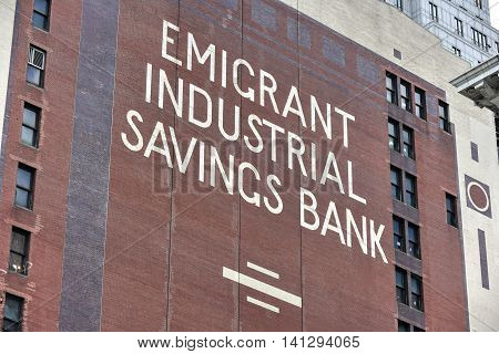 Emigrant Industrial Savings Bank