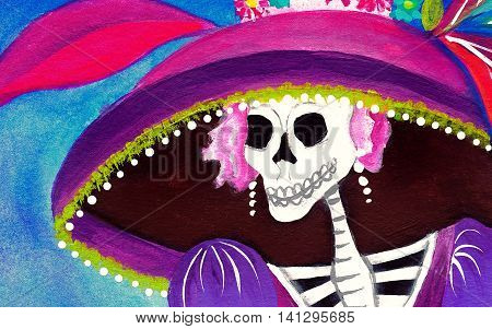 Day Of The Dead Catrina Skeleton