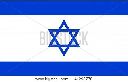 Flag of Israel straight pin illustration shiny national flag circle rectangle