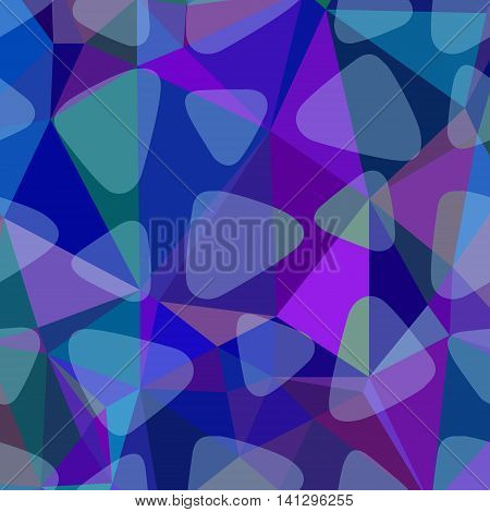 Blue, purple and navy abstract polygonal background