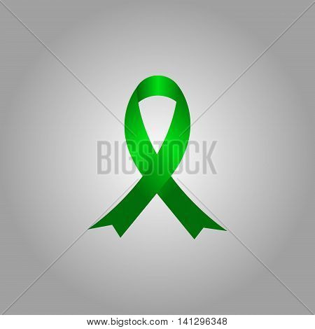 AIDS awareness ribbon. Breast cancer awareness ribbon.