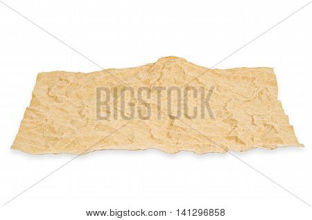 natural brown recycled paper isolated onwhite background Saved clipping path.