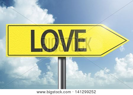Love yellow sign