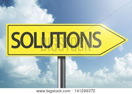 Solutions yellow sign