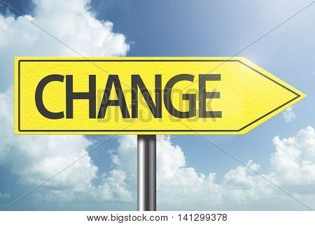Change yellow sign