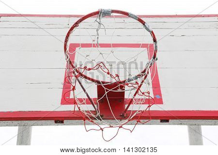 Outdoor basketball hoop goal for shooting ball
