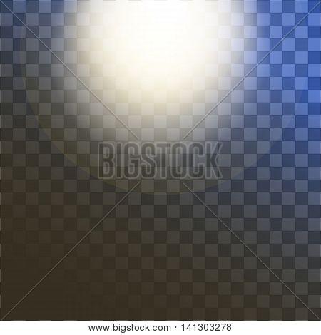 shiny sun vector, sunbeams, sunrays, Vector modern sun on sample background. sunshine design. Yellow warm light effect, sun rays, beams on transparent background.