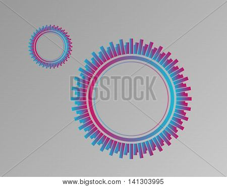 Vector abstract tyre. Simple colorful wheel. Mystical ring.
