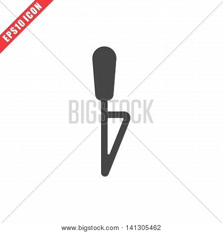 Vector illustration of knife icon on white background. Simple black kitchenware image