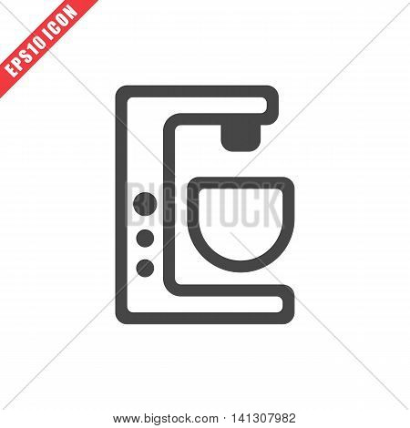 Vector illustration of mixer icon on white background. Simple black kitchenware image