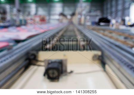 conveyor line Assembly TV. blur picture.plant, blur, production,