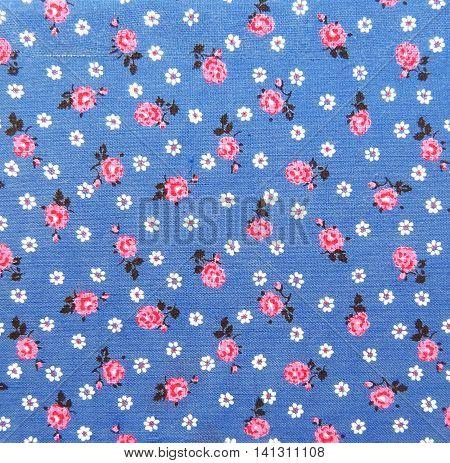 Floral textile or cloth, close-up shot. Textile background.