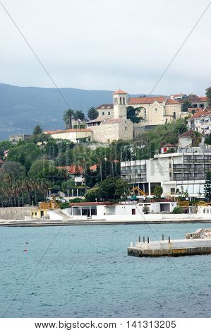 On the waterfront in the center of Herceg Novi, Montenegro