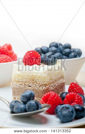 Fresh Raspberry And Blueberry Cake