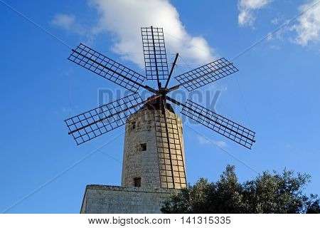 Xarolla Windmill at Zurreiq, built 1724.  One of the windmills constructed  by the knights of Malta.