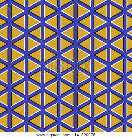 Optical illusion background. Floating wallpaper with triangles.
