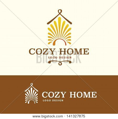 Logo Cozy Home on light and dark background