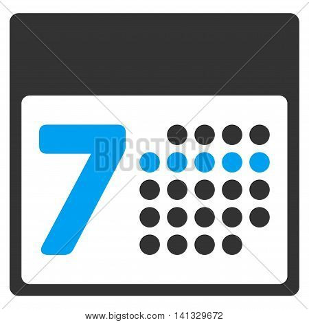 Binder Week vector icon. Style is bicolor flat symbol, blue and gray colors, rounded angles, white background.